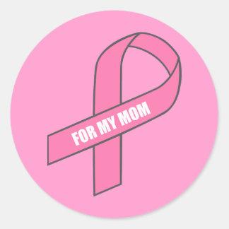 Para mi mamá (cinta rosada) etiquetas redondas