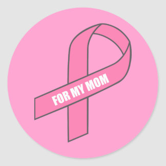 Para mi mamá (cinta rosada) pegatina redonda