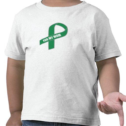Para mi mamá (cinta verde) camisetas