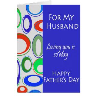 Para mi marido el el día de padre tarjeton