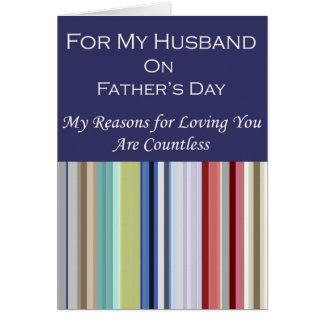 Para mi marido el el día de padre felicitaciones