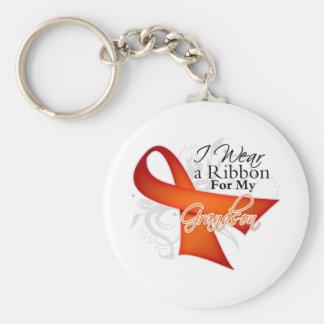 Para mi nieto - cinta de la leucemia llavero redondo tipo pin