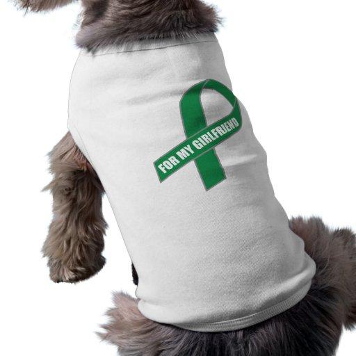 Para mi novia (cinta verde) camisetas de perro