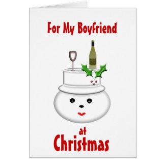 Para mi novio en la tarjeta de Navidad
