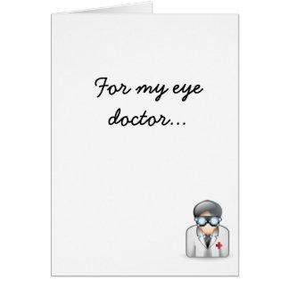 Para mi oculista tarjeta de felicitación