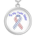 Para mi patriótico militar de la hermana gemela collar