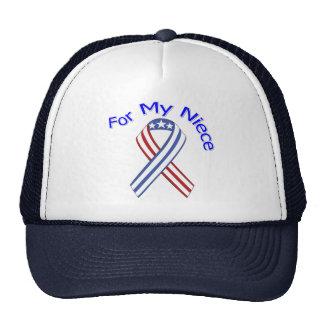 Para mi patriótico militar de la sobrina gorra