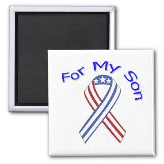 Para mi patriótico militar del hijo imán cuadrado