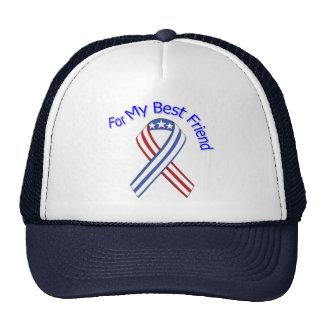 Para mi patriótico militar del mejor amigo gorra