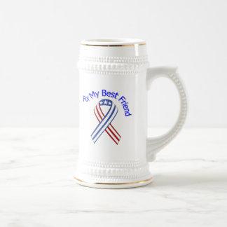 Para mi patriótico militar del mejor amigo jarra de cerveza