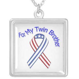 Para mi patriótico militar gemelo de Brother Collar Plateado