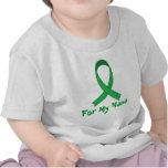 Para mi regalo verde de la conciencia de la cinta camiseta
