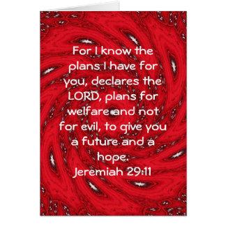 Para mí sé los planes que tengo… 29 11 de Jeremi Felicitacion