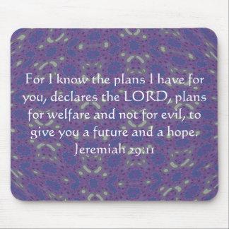 Para mí sé los planes que tengo - 29:11 de Jeremia Tapetes De Ratón