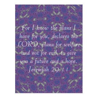 Para mí sé los planes que tengo - 29 11 de Jeremia Tarjetas Postales