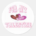 Para mi tarjeta del día de San Valentín Pegatinas Redondas