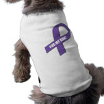 Para mi tía (cinta púrpura) camiseta de perro