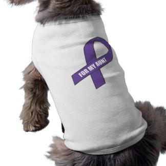 Para mi tía (cinta púrpura) playera sin mangas para perro