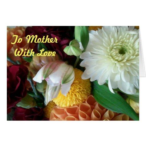 Para mimar con la tarjeta de felicitación floral d
