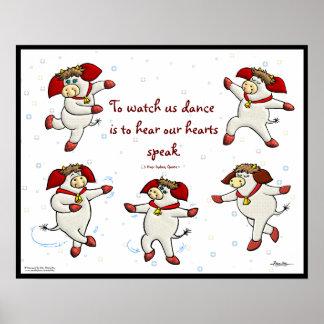 Para mirarnos bailar son oír nuestros corazones ha posters