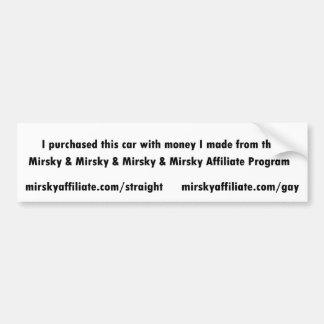 Para Mirsky y Mirsky y Mirsky y afiliados de Mirsk Etiqueta De Parachoque