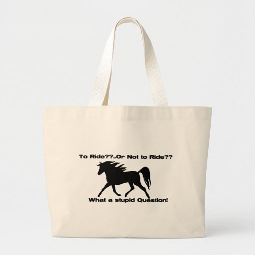 Para montar la camisa del caballo bolsa tela grande