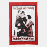 Para muestra del ~ del hogar y del país de los tie toalla de cocina