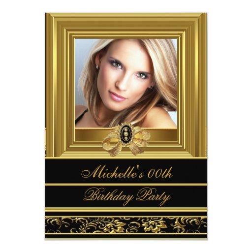 Para mujer añada a la fiesta de cumpleaños del invitaciones personalizada