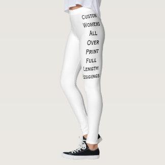 Para mujer de encargo por todo las polainas leggings