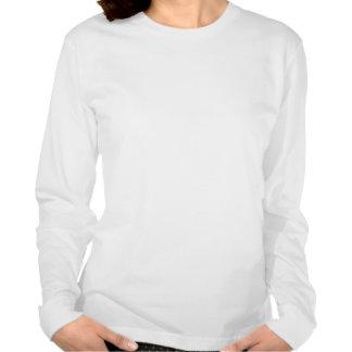 Para mujer largo de las letras rojas y negras de camiseta