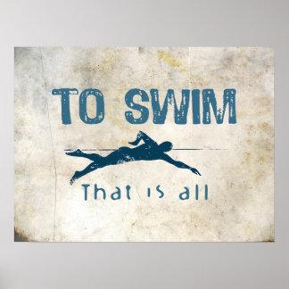 Para nadar póster