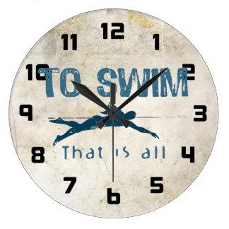 Para nadar reloj de pared