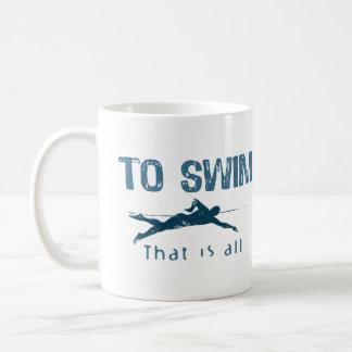 Para nadar tazas de café