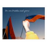 Para nuestra libertad y la suya postal