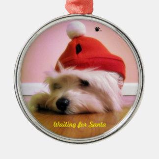 Para ornamento de Santa que espera Adorno De Navidad