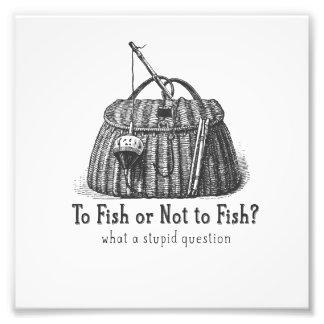 para pescar o caja de aparejos no estúpida del impresiones fotográficas