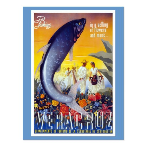 Para pescar Veracruz México Tarjeta Postal