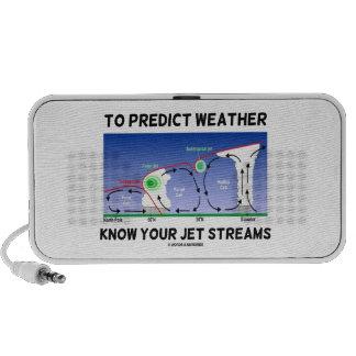 Para predecir el tiempo sepa sus corrientes de cho laptop altavoz