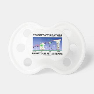 Para predecir el tiempo sepa sus corrientes de cho chupetes de bebe