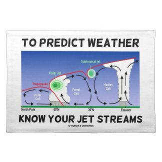 Para predecir el tiempo sepa sus corrientes de cho mantel individual