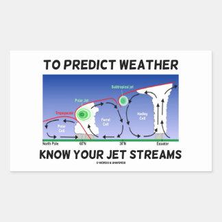 Para predecir el tiempo sepa sus corrientes de cho rectangular altavoces