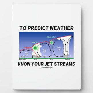 Para predecir el tiempo sepa sus corrientes de cho placa para mostrar