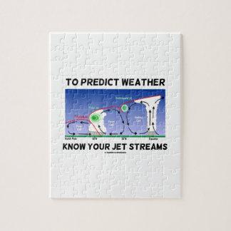Para predecir el tiempo sepa sus corrientes de cho rompecabezas con fotos