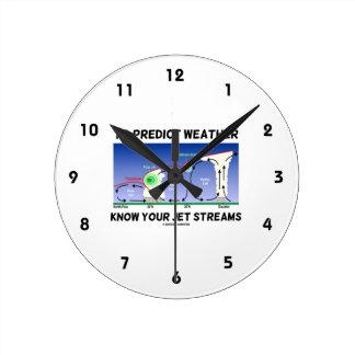 Para predecir el tiempo sepa sus corrientes de cho relojes de pared