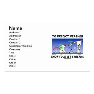 Para predecir el tiempo sepa sus corrientes de cho tarjeta de visita