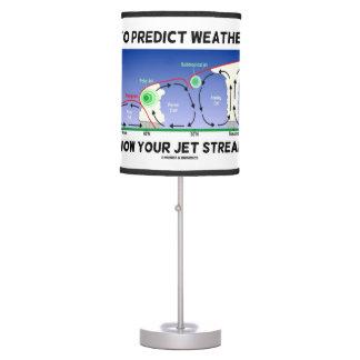 Para predecir el tiempo sepa sus corrientes de lámpara de mesa