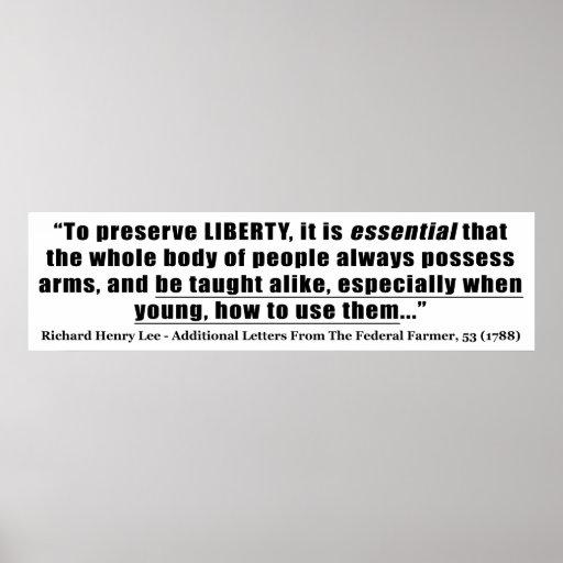 Para preservar cita de la libertad de Richard Henr Poster