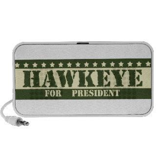 Para presidente Hawkeye Mp3 Altavoz