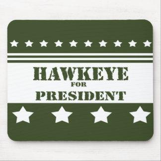 Para presidente Hawkeye Alfombrillas De Ratón