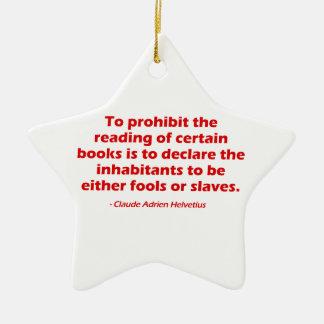 Para prohibir la lectura de ciertos libros adorno navideño de cerámica en forma de estrella